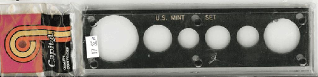 US Mint Set w/ Silver Eagle Capital Plastics Holder Black 2x7.5 US Mint Set w/ Silver Eagle Capital Plastics Holder Black, Capital, 17SEM