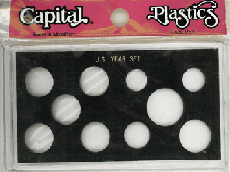 US Year Set 10 Coin Capital Plastics Holder Black Meteor