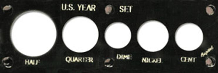 US Year Set 5 Coin Capital Plastics Holder Black 2x6 US Year Set 5 Coin Capital Plastics Holder Black, Capital, 11Y