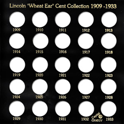 Lincoln Wheat Ear Cents 1909 Capital Plastics Coin Holder Black Galaxy