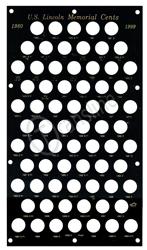 Lincoln Memorial Cents 1980 Capital Plastics Coin Holder Black 8x14