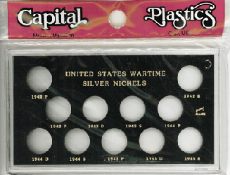 Wartime Silver Nickels Capital Plastics Coin Holder Black Snap Meteor