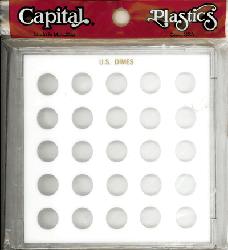 Dimes Capital Plastics Coin Holder White. Galaxy
