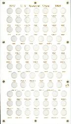 Roosevelt Dimes 1977 Capital Plastics Coin Holder White 8x14