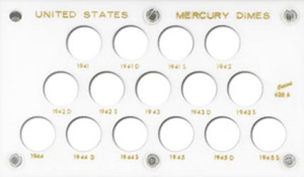 Mercury Dimes Capital Plastics Coin Holder White 3.5x6