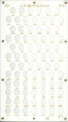 Mercury Dimes 1916 Capital Plastics Coin Holder White 8x14