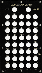 1947 to 1964D Washington Quarters Capital Plastics Holder 8x14 Capital plastics, washington quarters, 1947,1964,holder