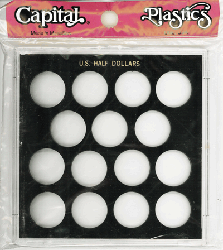 Half Dollars Galaxy Capital Plastics Coin Holder Black Galaxy Half Dollars Galaxy Capital Plastics Coin Holder Black, Capital, GX51S