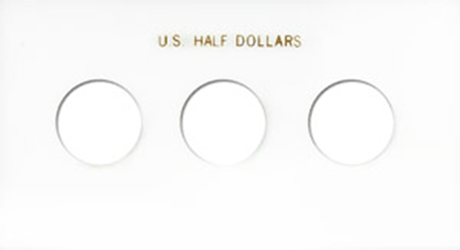 Half Dollars 3 Coin Capital Plastics Coin Holder White Meteor Half Dollars 3 Coin Capital Plastics Coin Holder White, Capital, MA31C