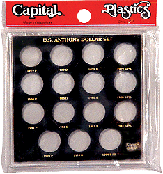 Susan B Anthony Dollar Set Capital Plastics Coin Holder Black Galaxy Susan B Anthony Dollar Set Capital Plastics Coin Holder Black, Capital, GX425A