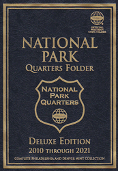 Whitman National Park Quarters P&D Deluxe Folder Cover
