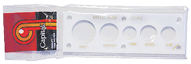Birth Year Coins 5 Coin Capital Plastics Coin Holder White 2x6 Birth Year Coins 5 Coin Capital Plastics Coin Holder White, Capital, 11BY