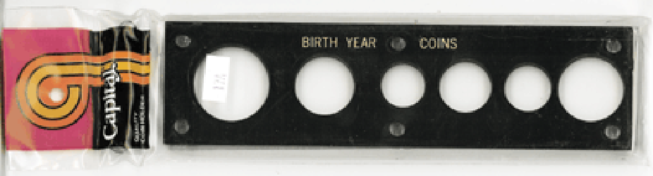 Birth Year Coins 6 Coin Capital Plastics Coin Holder Black 2x7.5 Birth Year Coins 6 Coin Capital Plastics Coin Holder Black, Capital, 17ABY
