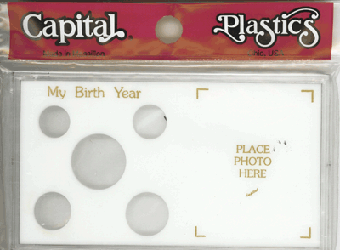 My Birth Year Capital Plastics Photo / 5 Coin Holder White Meteor My Birth Year Capital Plastics Photo / 5 Coin Holder White, Capital, MA32 White