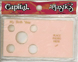 My Birth Year Capital Plastics Photo / 5 Coin Holder Pink Meteor My Birth Year Capital Plastics Photo / 5 Coin Holder Pink, Capital, MA32 Pink