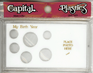 My Birth Year Capital Plastics Photo / 6 Coin Holder White Meteor My Birth Year Capital Plastics Photo / 6 Coin Holder White, Capital, MA32A White
