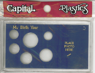 My Birth Year Capital Plastics Photo / 6 Coin Holder Blue Meteor My Birth Year Capital Plastics Photo / 6 Coin Holder Blue, Capital, MA32A Blue