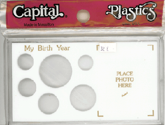 My Birth Year Capital Plastics Photo / 6 Coin Holder White Lg. Dollar Meteor My Birth Year Capital Plastics Photo / 6 Coin Holder White Lg. Dollar, Capital, MA32E White