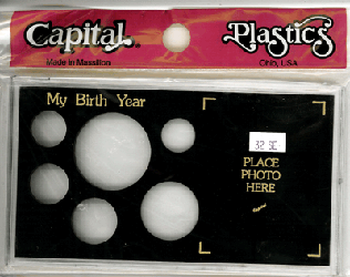 My Birth Year Capital Plastics Photo / 6 Coin Holder Black ASE Meteor My Birth Year Capital Plastics Photo / 6 Coin Holder Black ASE, Capital, MA32SE Black
