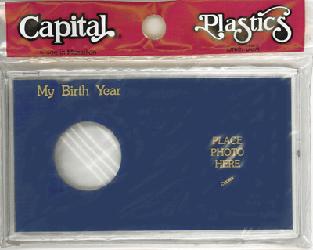 My Birth Year Silver Eagle / Photo Capital Plastics Coin Holder Blue Meteor My Birth Year Silver Eagle / Photo Capital Plastics Coin Holder Blue, Capital, MA32XBY