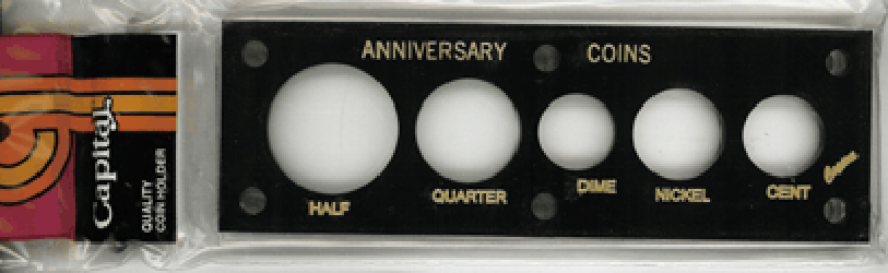 Anniversary Coins Capital Plastics Coin Holder Black 2x6 Anniversary Coins Capital Plastics Coin Holder Black, Capital, 11AY