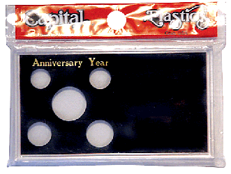 Anniversary Year Capital Plastics Coin Holder Black Meteor Anniversary Year Capital Plastics Coin Holder Black, Capital, MA32AY