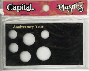 Anniversary Year 6 Coin Capital Plastics Coin Holder Black Meteor