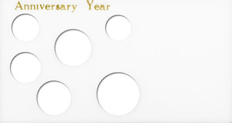 Anniversary Year 6 Coin Capital Plastics Coin Holder White Meteor Anniversary Year 6 Coin Capital Plastics Coin Holder White, Capital, MA6AAY