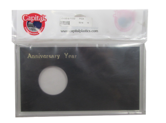 Anniversary Silver Eagle Capital Plastics Coin Holder Black Meteor Anniversary Silver Eagle Capital Plastics Coin Holder Black, Capital, MA32XAY