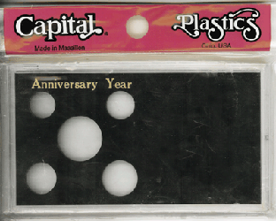 Anniversary ASE Capital Plastics Coin Holder Black Meteor