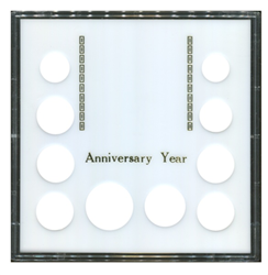 Capital Plastics Anniversary Year 10 Coin Holder
