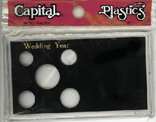 Wedding Year Capital Plastics Coin Holder Black Meteor Wedding Year Capital Plastics Coin Holder Black, Capital, MA32WY