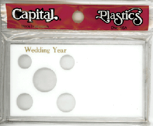Wedding Year 6 Coin Capital Plastics Coin Holder White Meteor Wedding Year 6 Coin Capital Plastics Coin Holder White, Capital, MA32AWY
