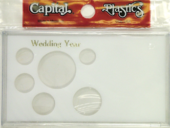 Wedding Year ASE 6 Coin Capital Plastics Coin Holder White Meteor Wedding Year ASE 6 Coin Capital Plastics Coin Holder White, Capital, MA32SEWY