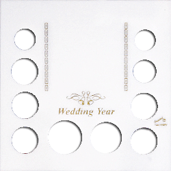 Capital Plastics Wedding Year 10 Coin and Photo Holder