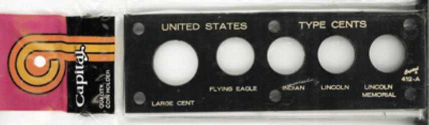 US Type Cents Capital Plastics Coin Holder Black 2x6 US Type Cents Capital Plastics Coin Holder Black, Capital, 412A Black
