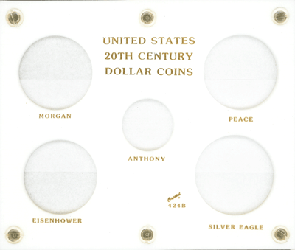US 20th Century Dollar Capital Plastics Coin Holder White 5x6 US 20th Century Dollar Capital Plastics Coin Holder White, Capital, 424B