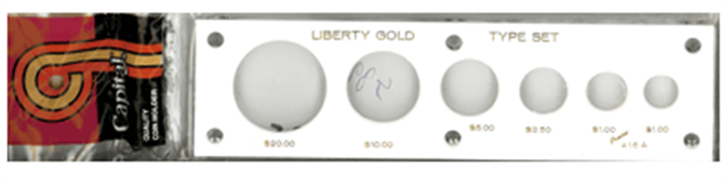 Capital Plastics Liberty Gold Type Set Coin Holder capital plastics liberty gold type set coin holder