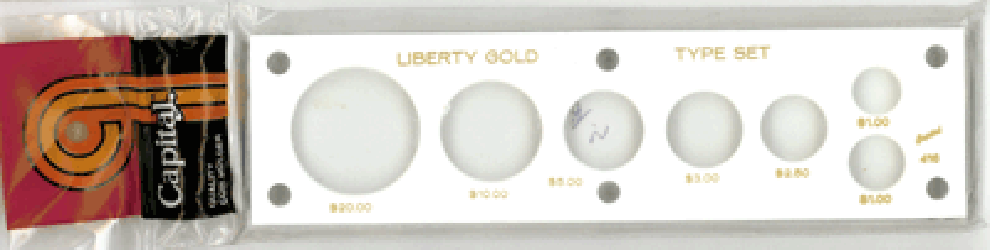 Liberty Gold Type 7 Coin Capital Plastics Coin Holder White 2x7.5