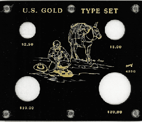 U.S. Gold Type Set  5x6