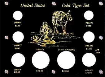 U.S. Gold Type Set  6x8