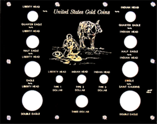 Capital Plastics U.S. Gold Type Set  8x10 U.S. Gold Type Set , Capital, 460G