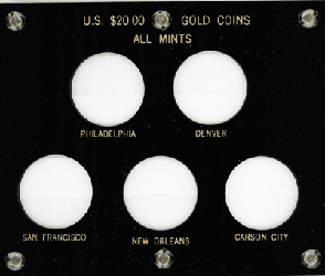 All Mints U.S. $20.00 Gold Coins 5x6 All Mints U.S. $20.00 Gold Coins, Capital, 423F