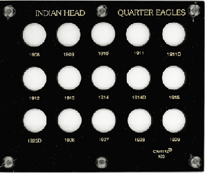 Indian Head Quarter Eagles  5x6