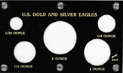U.S. Gold & Silver Eagles 3.5x6 U.S. Gold & Silver Eagles, Capital, 434F