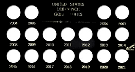 U.S. 1/10 Ounce Gold Eagles 2004-2021 Meteor U.S. 1/10 Ounce Gold Eagles 2004-2021, Capital, MA437A