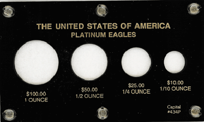 U.S. Platinum Eagles  3.5x6 U.S. Platinum Eagles , Capital, 434P