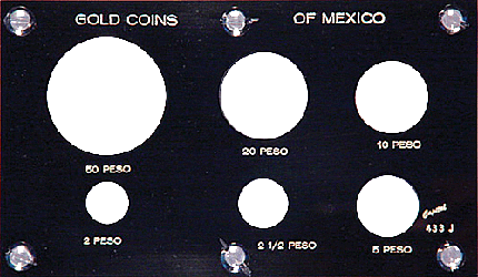 Gold Coins of Mexico  3 1/2 x 6 Gold Coins of Mexico , Capital, 433J