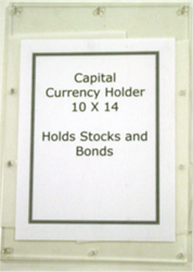 Currency Holder 10 x 14 Currency Holder, Capital, CH-6