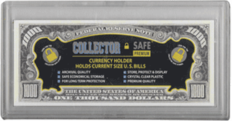 Collector Safe Currency Snap Lock Holder for Modern Bills Collector Safe, Small, Snap Lock, Currency Holder, acrylic
